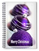 Merry Christmas Purple Baubles Spiral Notebook