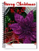 Merry Christmas Red Ribbon Spiral Notebook