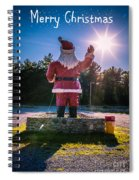 Merry Christmas Santa Claus Greeting Card Spiral Notebook