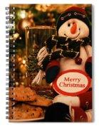 Merry Christmas Snowman Spiral Notebook