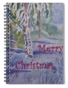 Merry Christmas - Snowy Winter Path Spiral Notebook