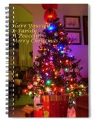 Merry Christmas Wish Spiral Notebook