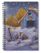 Merry Christmas You Old Barn And Farm Implement Spiral Notebook