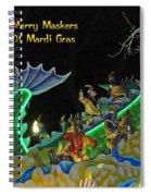 Merry Maskers Of Mardi Gras Spiral Notebook