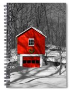 Merry Red Bw Spiral Notebook