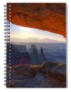 Mesa Arch Canyonlands National Park Spiral Notebook