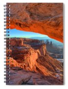 Mesa Sunrise Glow Spiral Notebook