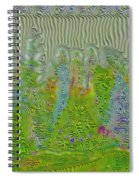 Meshed Tree Abstract Spiral Notebook