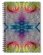 Mesmerising Rainbow Spiral Notebook