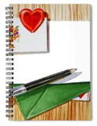 Message From The Heart Spiral Notebook