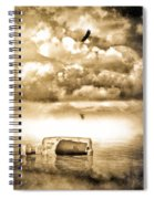Message In A Bottle Spiral Notebook