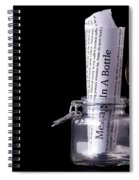 Message In A Bottle Concept Spiral Notebook