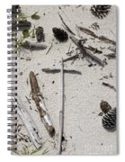 Message In The Sand Spiral Notebook