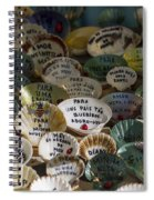 Messages On Shells Spiral Notebook