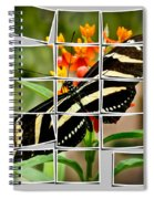 Messed Up Butterfly Spiral Notebook
