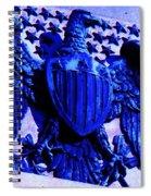 Metal American Eagle Symbol Spiral Notebook