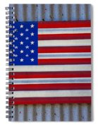 Metal American Flag Spiral Notebook