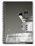 Metal And Moon Spiral Notebook