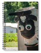 Metal Cow On Farm Spiral Notebook