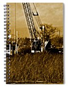 Metal Cranes On The Delta Spiral Notebook