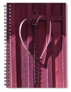 Metal Heart On Red Barn Spiral Notebook