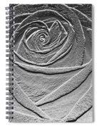 Metal Rose Spiral Notebook