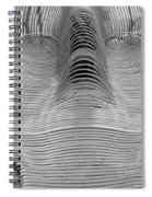 Metal Strips In Balck And White Spiral Notebook