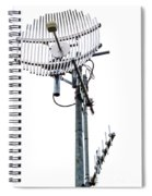 Metal Telecom Tower And Antennas Isolated On White Spiral Notebook