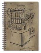 Metal Working Machine Patent Spiral Notebook