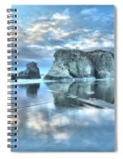 Metallic Cloud Reflections Spiral Notebook