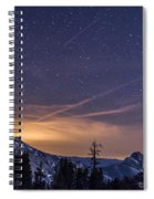 Night Skies Over Half Dome Spiral Notebook