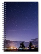 Mammoth Mountain At Night Spiral Notebook