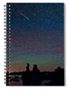 Meteors Over Mono Lake Spiral Notebook
