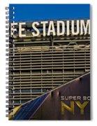 Metlife Stadium Super Bowl Xlviii Ny Nj Spiral Notebook
