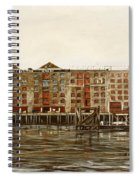 Metropolitan Wharf Wapping London About 1980 Spiral Notebook