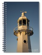 Mevagissey Lighthouse In The Evening Spiral Notebook