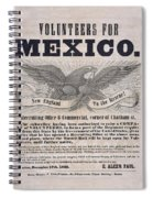 Mexican American War Flyer Spiral Notebook