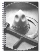 Mexican Revolution Sombrero With Hammer Spiral Notebook