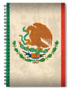 Mexico Flag Vintage Distressed Finish Spiral Notebook