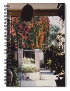 Mexico Garden Patio By Tom Ray Spiral Notebook