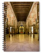Mezquita Interior In Cordoba Spiral Notebook