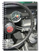 Mg Midget Instrument Panel Spiral Notebook