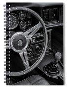 Mg Midget Interior Bw Spiral Notebook