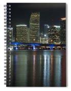 Miami At Night Spiral Notebook