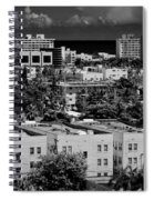 Miami Beach - 0156bw Spiral Notebook