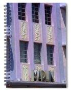Miami Beach - Art Deco 12 Spiral Notebook