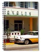 Miami Beach - Art Deco Spiral Notebook