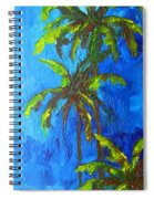 Miami Beach Palm Trees In A Blue Sky Spiral Notebook