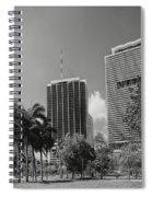 Miami Cityscape  Bw Spiral Notebook