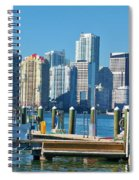 Miami On The Docks Spiral Notebook